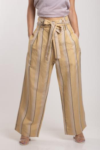Ženske pantalone Linen Blend Striped