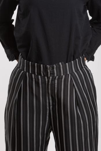 Ženske pantalone Striped Tencel