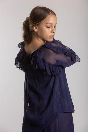 Ženska bluza Creased Georgette