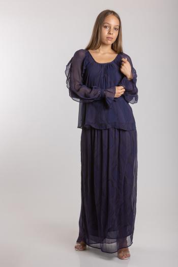 Ženska suknja Creased Georgette