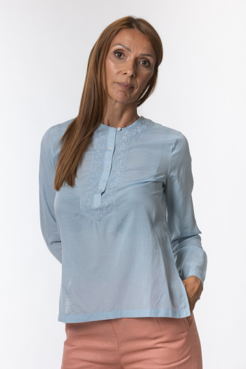Ženska bluza Basic cotton blend
