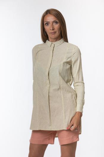 Ženska košulja Basic cotton slub