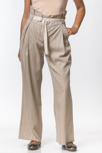 Ženske pantalone Otn striped tencel