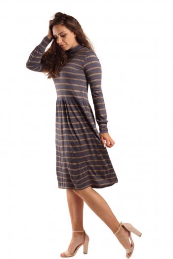 Ženska haljina Yarn Dyed Jearsy  Stripe