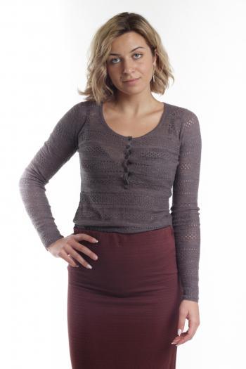 Ženski džemper Pointelle knit