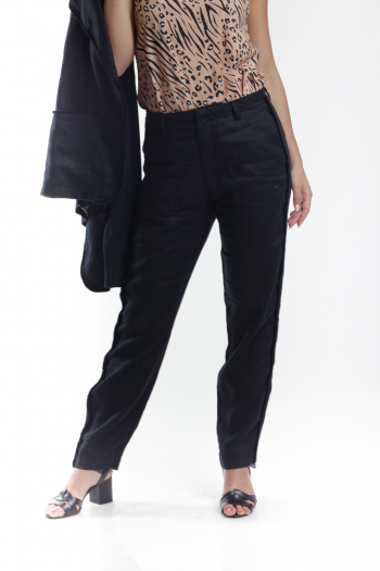 Ženske pantalone Linen Structure