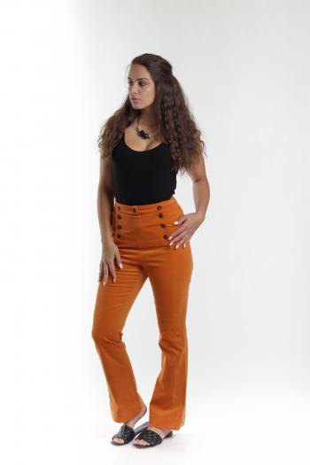 Ženske pantalone Fine Corduroy