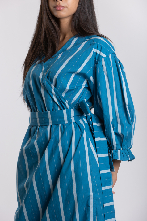 Ženska haljina Striped Poplin
