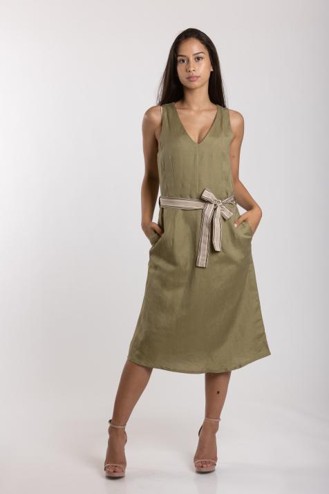 Ženska haljina Linen Blend