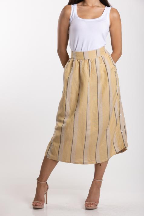 Ženska suknja Linen Blend Striped
