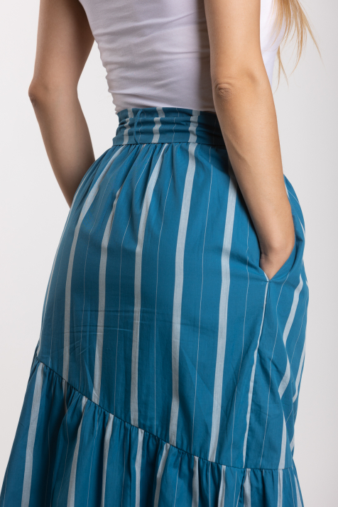 Ženska suknja Striped Poplin