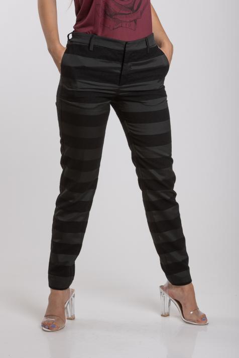 Ženske pantalone Stripe Jacquard