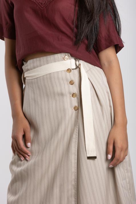 Ženska suknja Striped Tencel